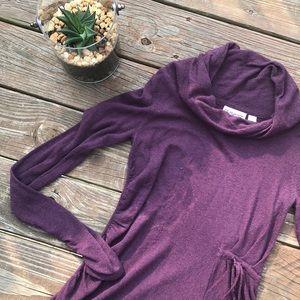 Anthropologie Rosie Neira Purple Cowl Neck Sweater